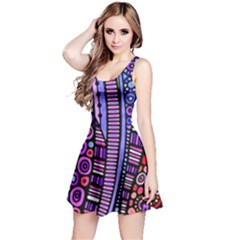 Stained glass tribal pattern Reversible Sleeveless Dress