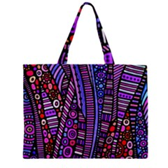 Stained glass tribal pattern Tiny Tote Bag