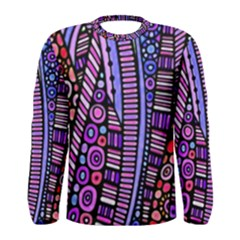 Stained glass tribal pattern Men s Long Sleeve T-shirt