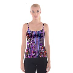 Stained glass tribal pattern Spaghetti Strap Top