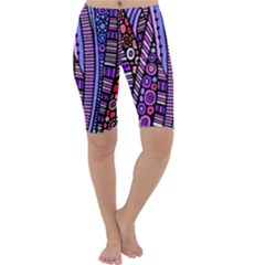 Stained glass tribal pattern Cropped Leggings