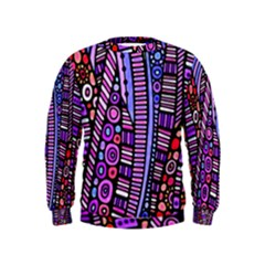 Stained Glass Tribal Pattern Kid s Sweatshirt