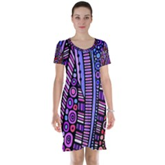 Stained Glass Tribal Pattern Short Sleeve Nightdress