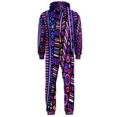 Stained glass tribal pattern Hooded Jumpsuit (Men)