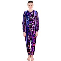 Stained glass tribal pattern OnePiece Jumpsuit (Ladies)