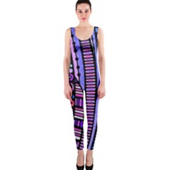 Stained Glass Tribal Pattern Onepiece Catsuit