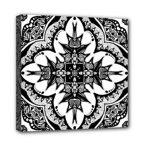 Doodle Cross  Mini Canvas 8  X 8  (framed)