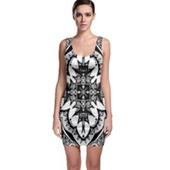 Doodle Cross  Bodycon Dress