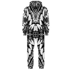 Doodle Cross  Hooded Jumpsuit (Men)