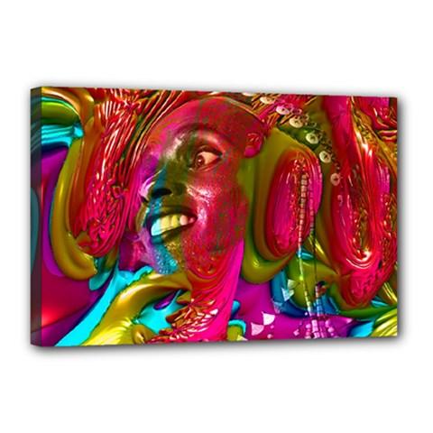 Music Festival Canvas 18  X 12  (framed)