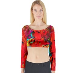 Mardi Gras Long Sleeve Crop Top (Tight Fit)