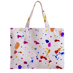 Multicolor Splatter Abstract Print Tiny Tote Bag