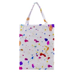 Multicolor Splatter Abstract Print Classic Tote Bag