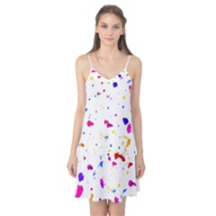 Multicolor Splatter Abstract Print Camis Nightgown