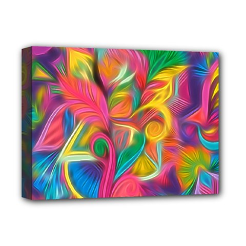 Colorful Floral Abstract Painting Deluxe Canvas 16  X 12  (framed)