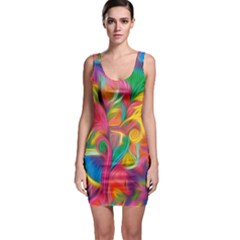 Colorful Floral Abstract Painting Bodycon Dress