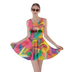 Colorful Floral Abstract Painting Skater Dress