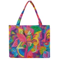 Colorful Floral Abstract Painting Mini Tote Bag