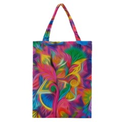 Colorful Floral Abstract Painting Classic Tote Bag