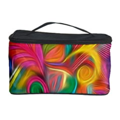 Colorful Floral Abstract Painting Cosmetic Storage Case