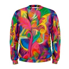 Colorful Floral Abstract Painting Men s Sweatshirt