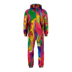 Colorful Floral Abstract Painting Hooded Jumpsuit (Kids)