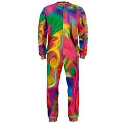 Colorful Floral Abstract Painting OnePiece Jumpsuit (Men)