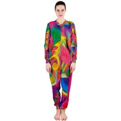 Colorful Floral Abstract Painting OnePiece Jumpsuit (Ladies)