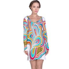 Doodle design Long Sleeve Nightdress