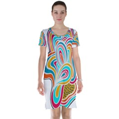 Doodle design Short Sleeve Nightdress