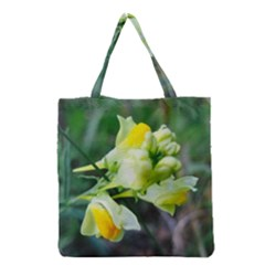 Linaria Flower Grocery Tote Bag