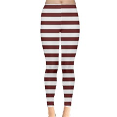 Marsala Stripes Leggings