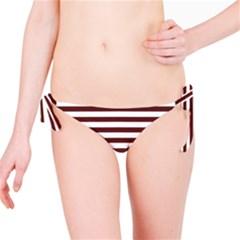 Marsala Stripes Bikini Bottom