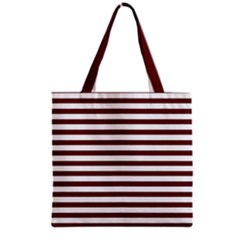 Marsala Stripes Grocery Tote Bag