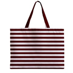 Marsala Stripes Tiny Tote Bag
