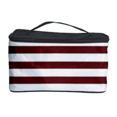 Marsala Stripes Cosmetic Storage Case