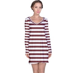 Marsala Stripes Long Sleeve Nightdress