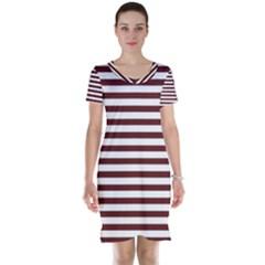 Marsala Stripes Short Sleeve Nightdress