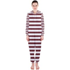 Marsala Stripes Hooded Jumpsuit (Ladies)