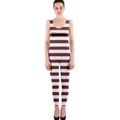 Marsala Stripes Onepiece Catsuit