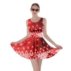 Red Fractal Lace Skater Dress