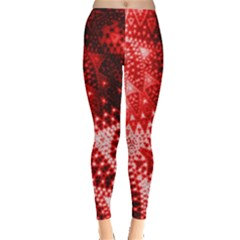 Red Fractal Lace Leggings
