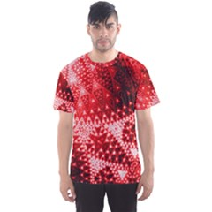 Red Fractal Lace Men s Sport Mesh Tee