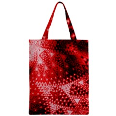 Red Fractal Lace Classic Tote Bag
