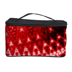 Red Fractal Lace Cosmetic Storage Case