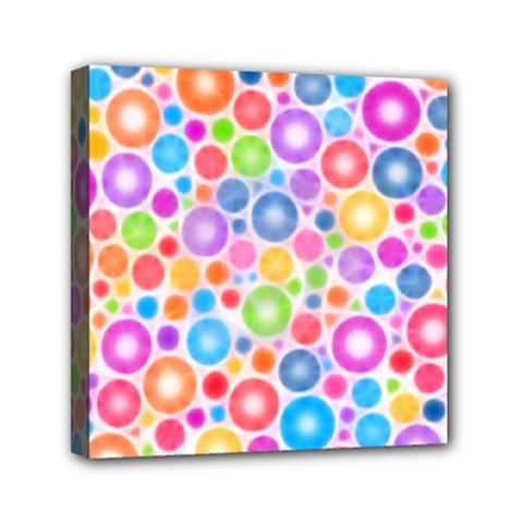 Candy Color s Circles Mini Canvas 6  X 6  (framed)