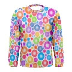 Candy Color s Circles Men s Long Sleeve T Shirt