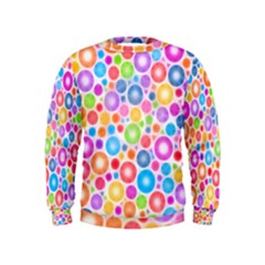Candy Color s Circles Kid s Sweatshirt