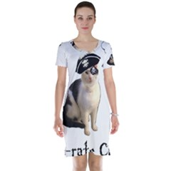 Pi Rate Cat Short Sleeve Nightdress