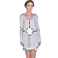 Finger labyrinth Long Sleeve Nightdress